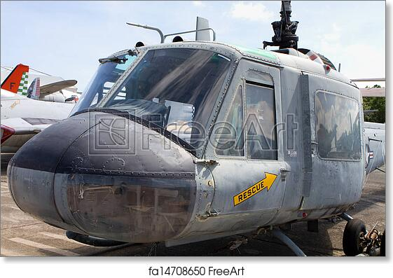Free art print of Huey Iroquois Helicopter