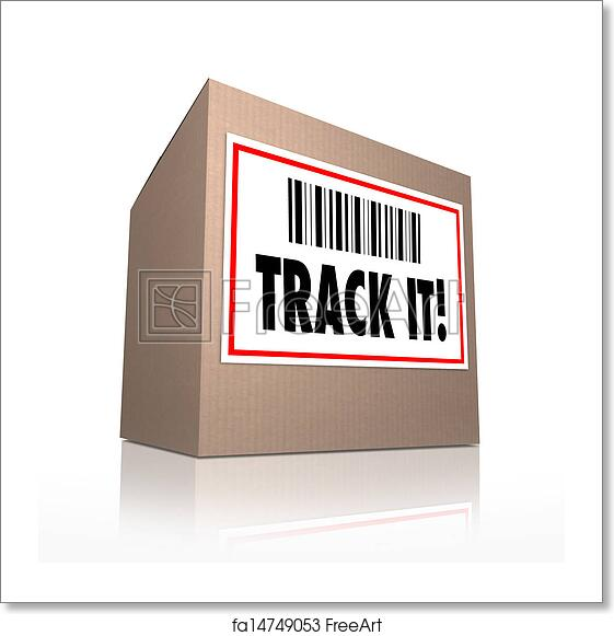Free art print of Track It Words Package Tracking Shipment Logistics
