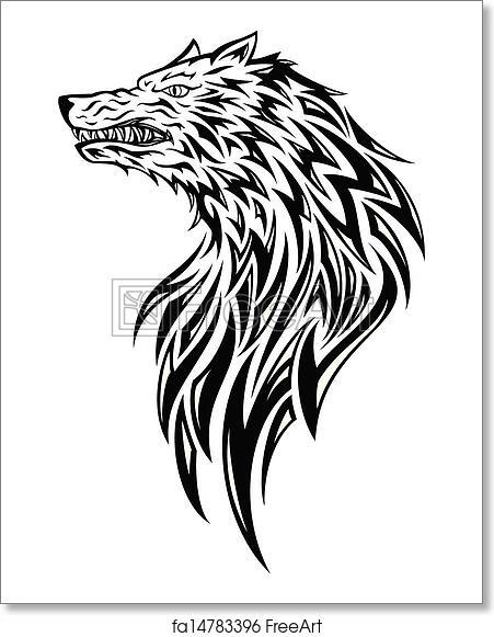 Free Art Print Of Tribal Wolf Head Tribal Tattoo Wolf Head