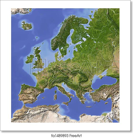 Free Art Print Of Europe Shaded Relief Map Europe Shaded Relief