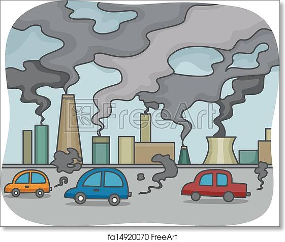 free art print of air pollution illustration of air pollution rh freeart com air pollution prevention clipart air pollution causes clipart