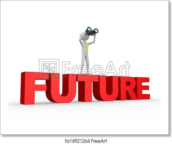 Free art print of Binocular and word FUTURE