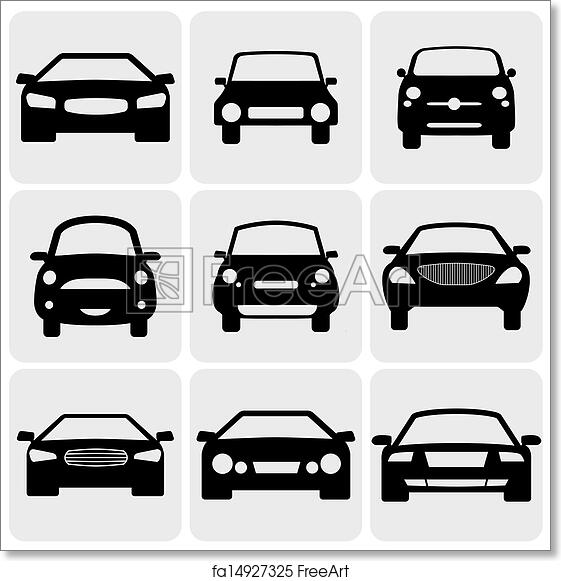 Free Art Print Of Compact And Luxury Passenger Car Iconssigns