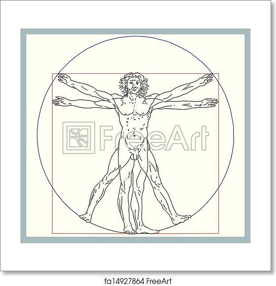 Free art print of Leonardo da Vinci's vitruvian man ...