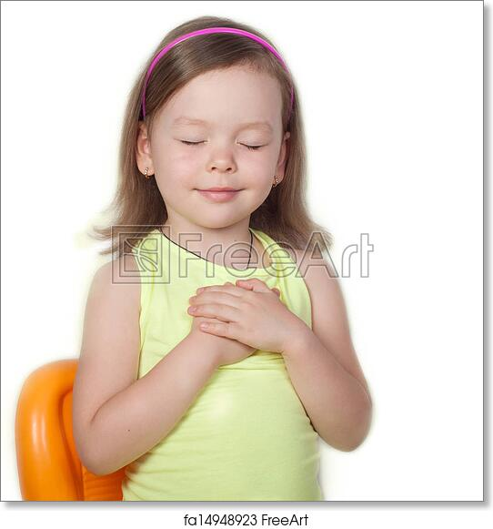 Free Art Print Of Little Girl Praying Little Girl Praying On White