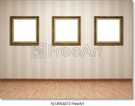 Free art print of Empty room frames. Empty room with frames on ...