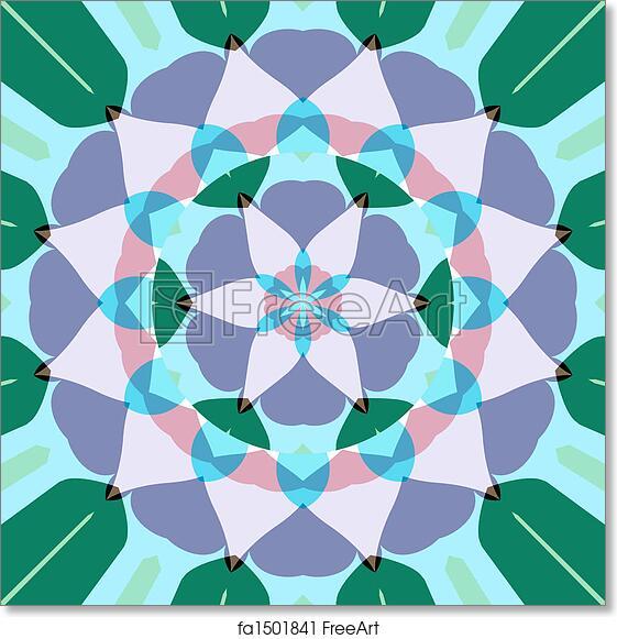 Free Art Print Of Lotus Flower Mandala Abstract Mandala Like Pastel