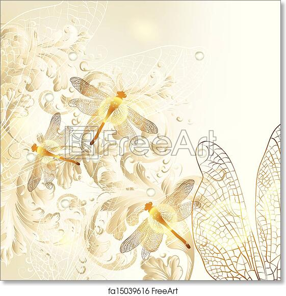 Free Art Print Of Elegant Wedding Floral Background W