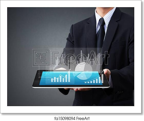 Free Art Print Of Touch Screen Tablet With A Graph