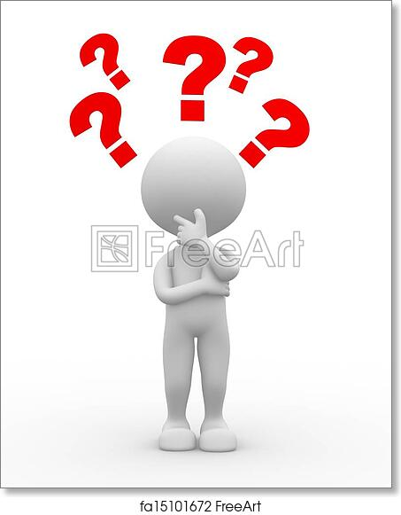 picture regarding Printable Question Mark named Absolutely free artwork print of Ponder mark. Confusion