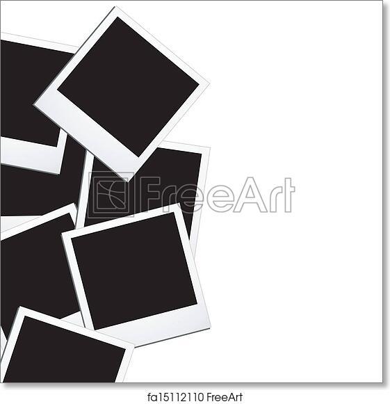 free art print of polaroid background | freeart | fa15112110