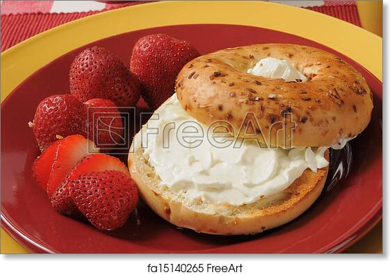 Strawberry Cream Cheese Bagel