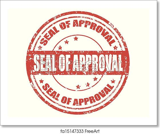 Free Art Print Of Seal Approval Stamp