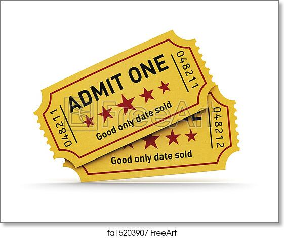 free art print of cinema tickets cinema industry entertainment