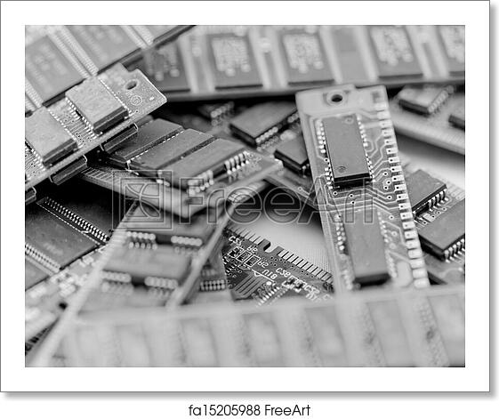 Free art print of Many different computer memory modules