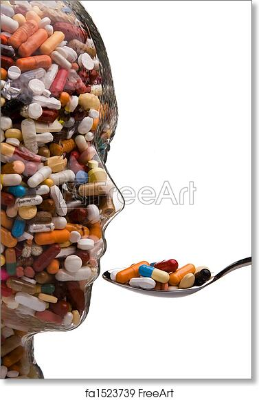 Free art print of Medicines and tablets to cure disease