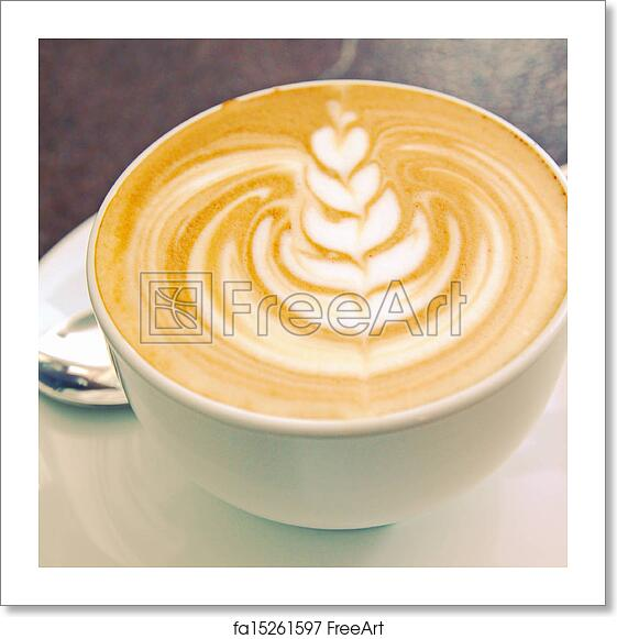 Free Art Print Of Cappuccino Or Latte Art Coffee With
