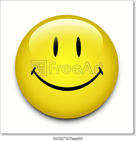 photograph regarding Smiley Face Printable named Cost-free artwork print of Smiley Encounter Button
