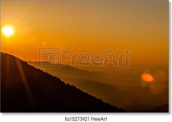 Sunrise over a snowy field HD wallpaper