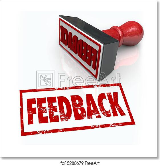Free Art Print Of Feeback Stamp Word Approval Opinion Comment Review