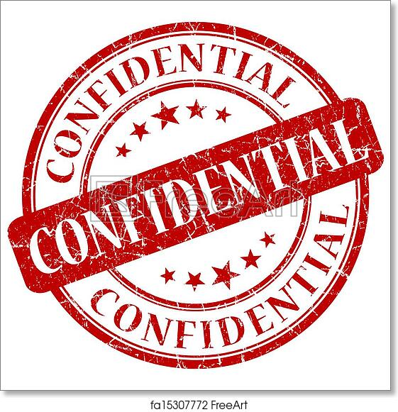 Free Art Print Of Confidential Red Stamp