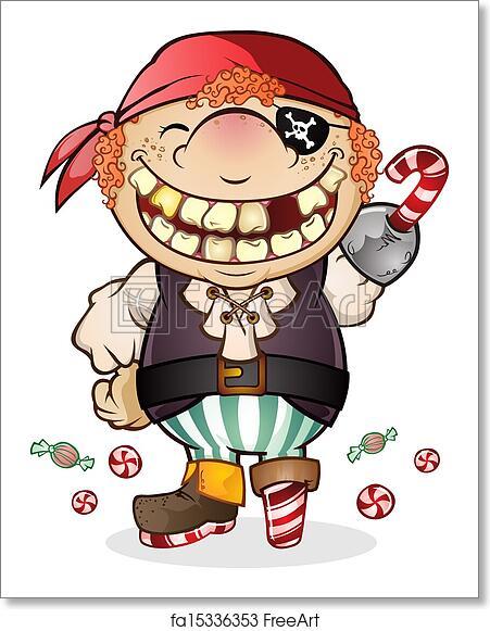 Free Art Print Of Candy Pirate Halloween Cartoon