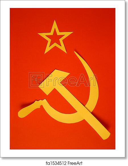 Free Art Print Of Cccp Flag Communist Cccp Flag With Hammer And