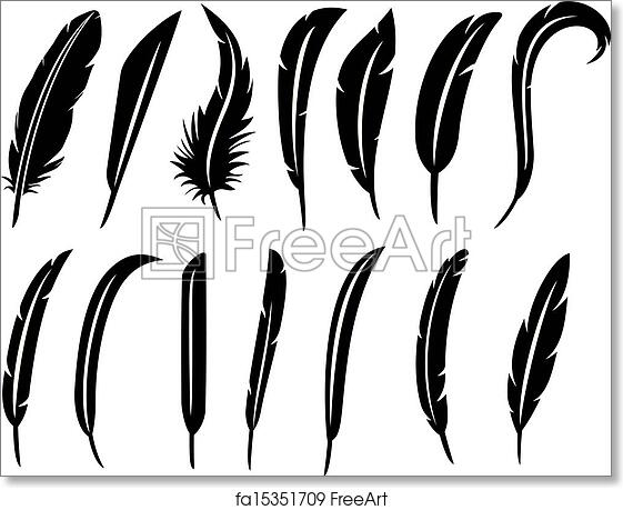 picture regarding Printable Feathers named Free of charge artwork print of The range of feathers