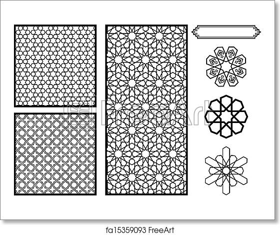 Free Art Print Of Middle Eastern Islamic Patterns Traditional Simple Middle Eastern Patterns