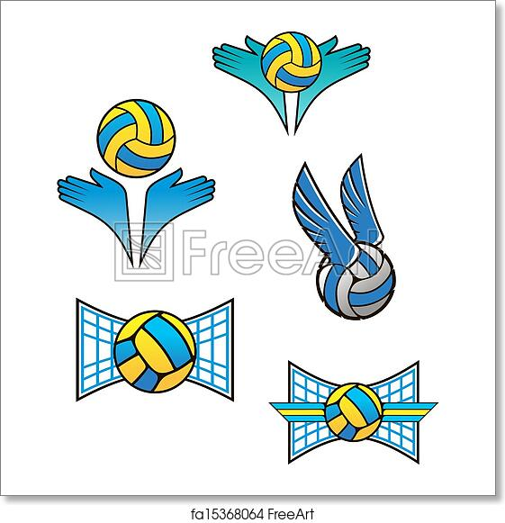 Free Art Print Of Volleyball Sports Symbols And Icons Volleyball