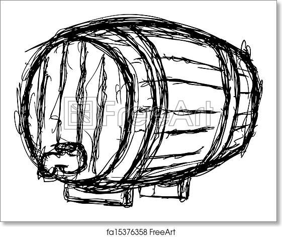 Free art print of Wine barrel