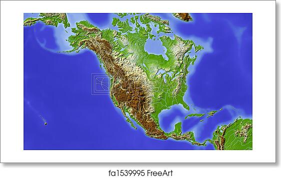Free art print of North and Central America, shaded relief map Central And North America Map on north america continent map, north america and europe map, north america road map, north central florida counties map, north central us map, north philadelphia neighborhood map, north central wisconsin map, north america and canada map, pacific north america map, north america weather map, north america political map, north and southeast asia map, north america river map, south america map, caribbean map, white north america outline map, north and middle america map, north america regions map, north america states map, west and central africa map,