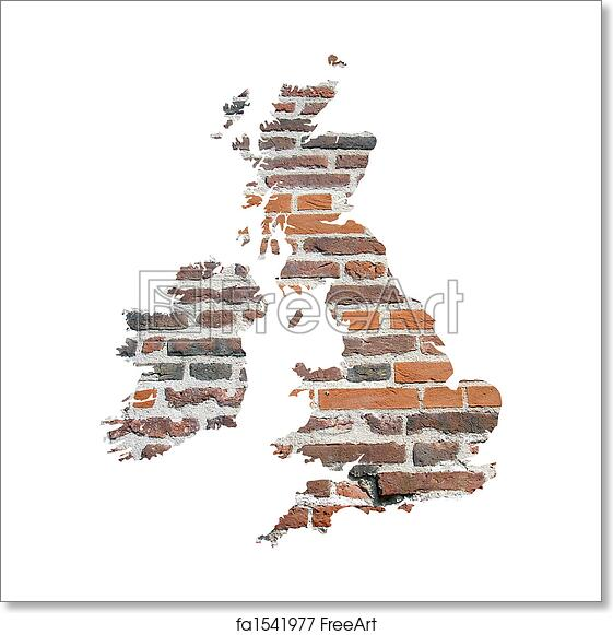 Map Of The Uk Printable.Free Art Print Of Uk And Ireland Map