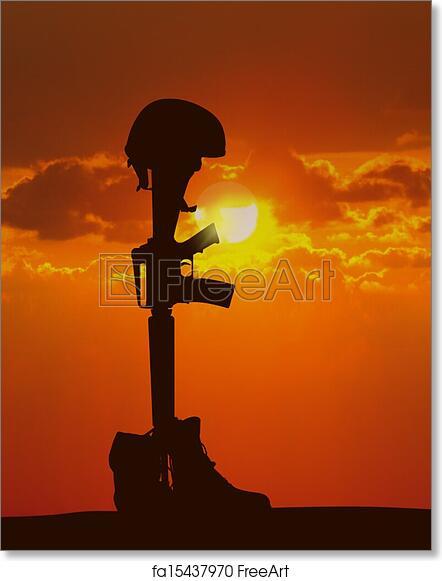 free art print of fallen soldier freeart fa15437970