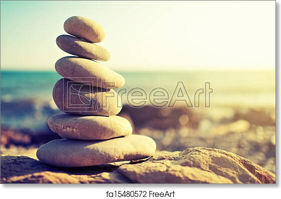 Free Art Print Of Concept Of Balance And Harmony Rocks On The