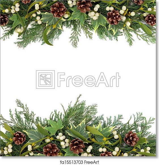 Christmas Greenery.Free Art Print Of Christmas Greenery Border