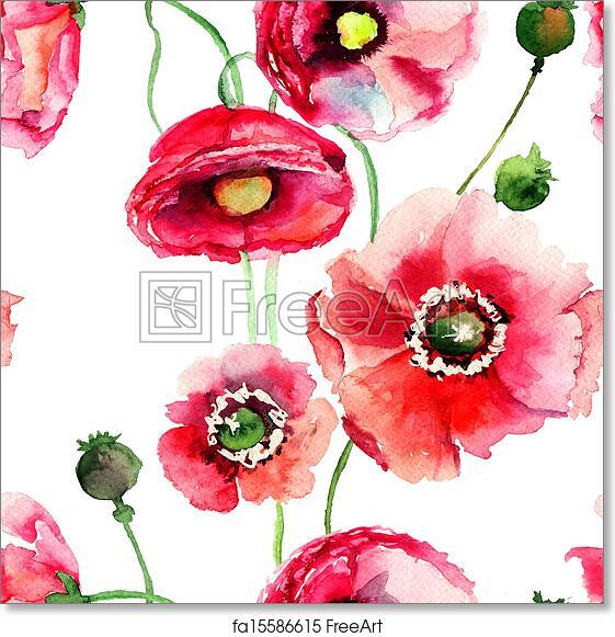 Free art print of stylized poppy flowers illustration stylized free art print of stylized poppy flowers illustration mightylinksfo