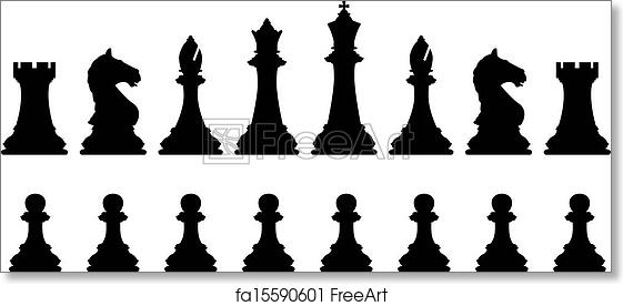 graphic regarding Printable Chess Pieces called Totally free artwork print of Chess mounted