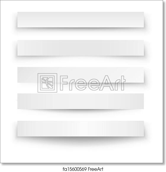 free art print of header blank web banner shadow template header