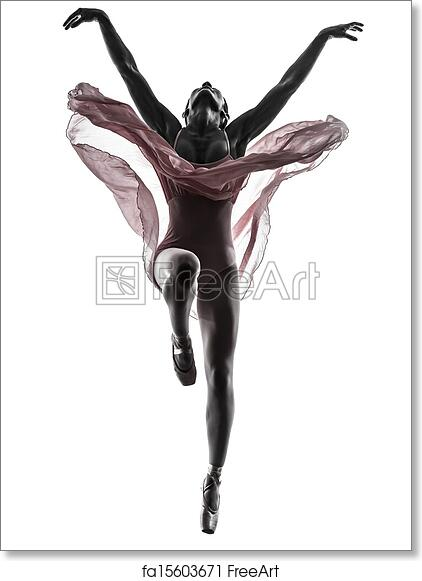 photograph relating to Printable Ballerina Silhouette named Absolutely free artwork print of Girl ballerina ballet dancer dancing silhouette
