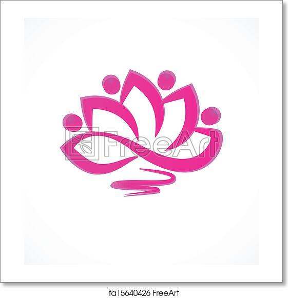 Free Art Print Of Pink Lotus Flower Icon Vector Freeart Fa15640426