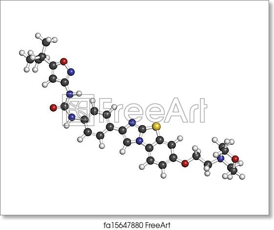 Free art print of Quizartinib investigational acute myeloid leukemia (AML)  drug, c