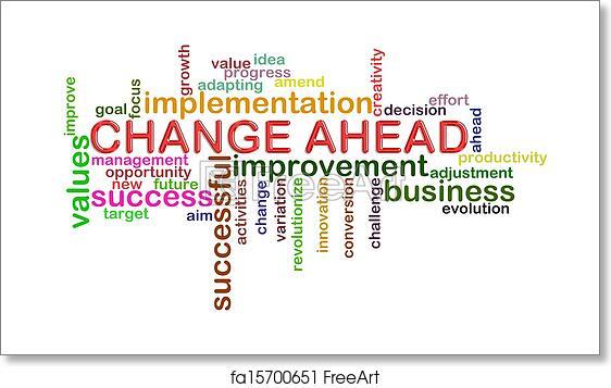 free art print of change ahead word tags illustration of wordcloud