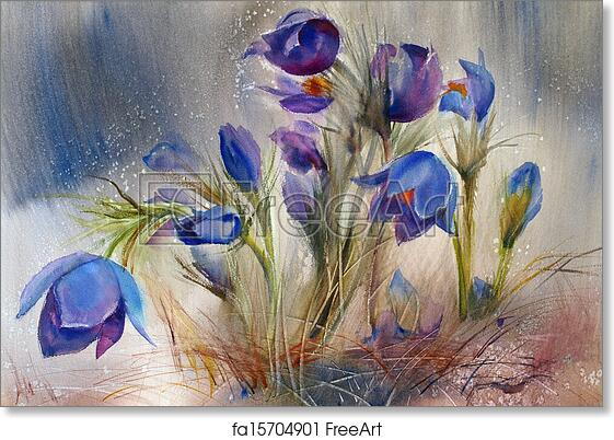 Free Art Print Of Watercolor Painting Of The Beautiful Spring