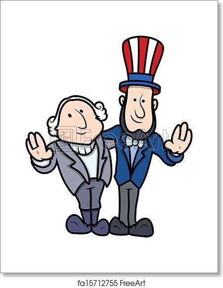 Free Art Print Of Presidents Day Cartoon Characters Washington And