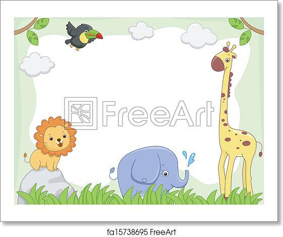 Free art print of Safari Animal Frame. Frame Illustration Featuring ...