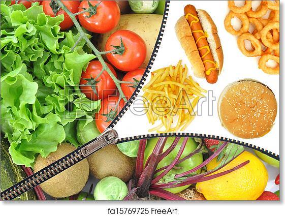 Free art print of Healthy or unhealthy food choice