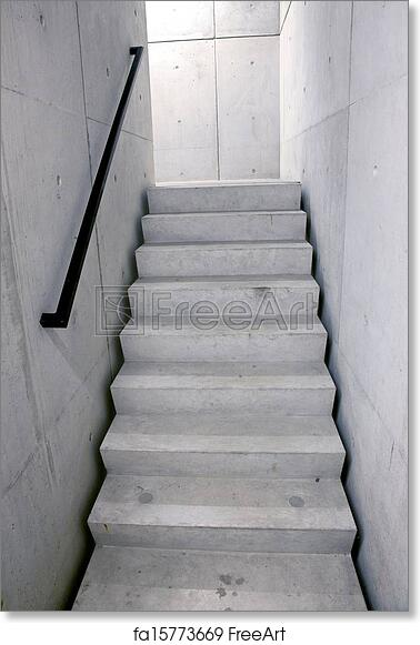 Free Art Print Of Concrete Staircase And Stairs Leading Upwards