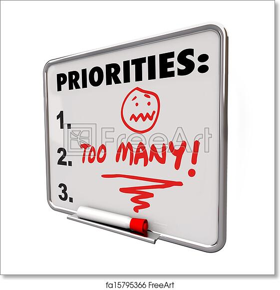 free art print of too many priorities overwhelming to do list tasks