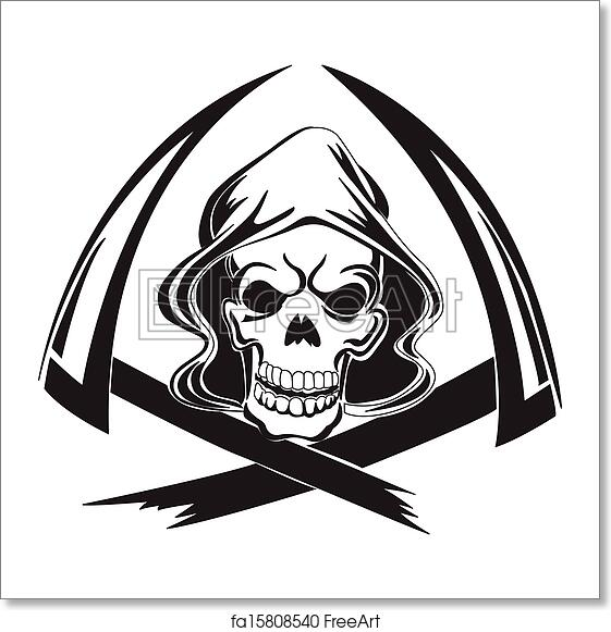 Free Art Print Of Tattoo Design Of A Grim Reaper With Scythe